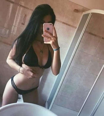 Asian Brunette In Bathroom